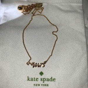 Kate Spade Mrs. Necklace